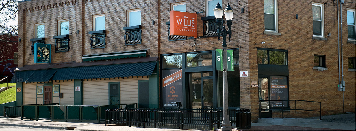 view of the Willis apartments from Michigan avenue