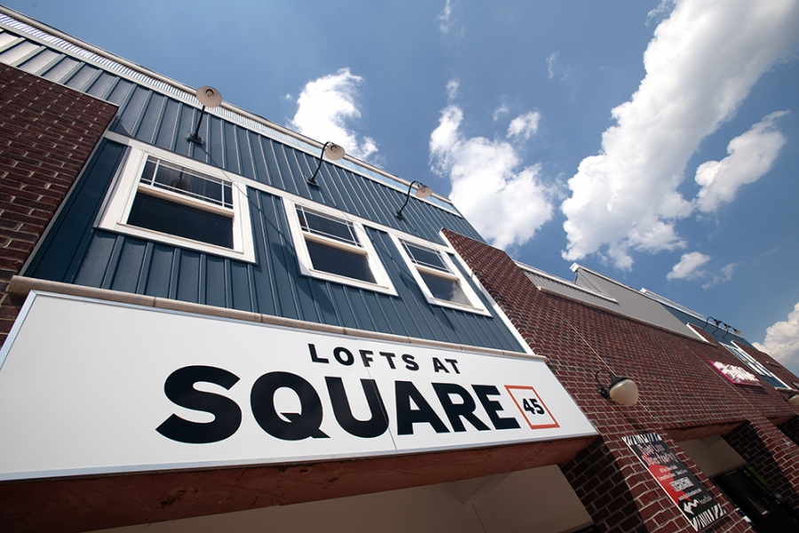 Exterior view of Lofts at Square 45